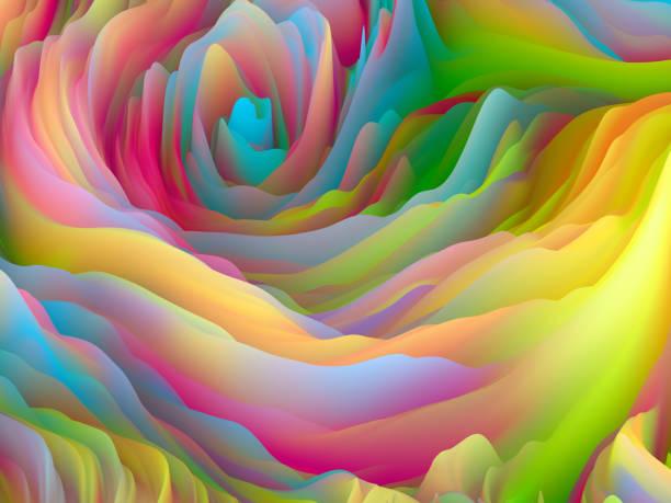 Magic of Organic Forces vector art illustration