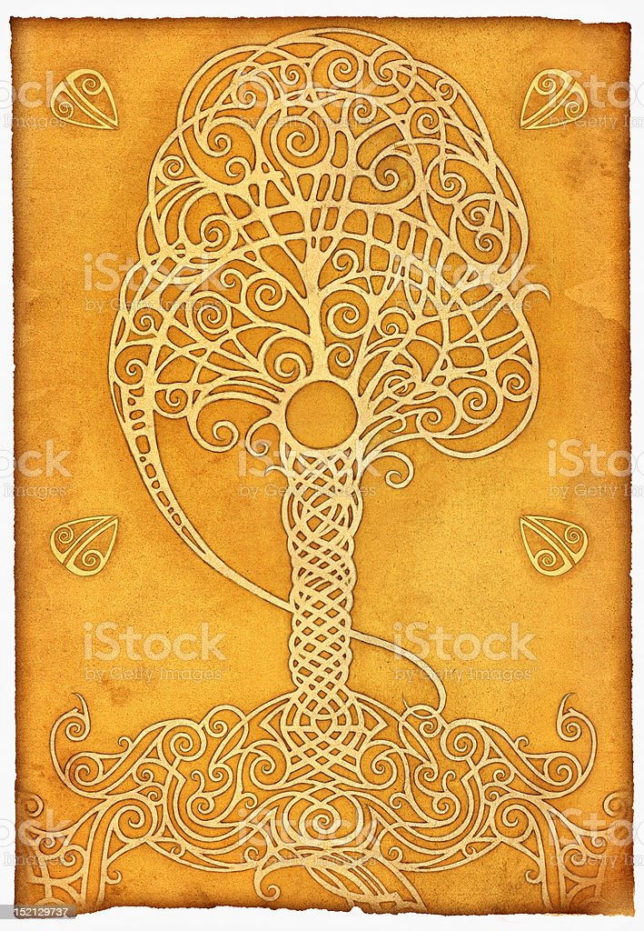 Magic tree vector art illustration