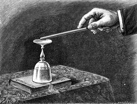 Magic trick with a glass and a book