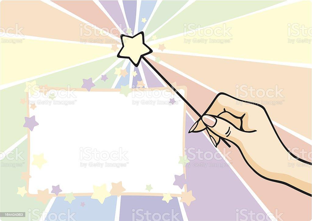 Magic wand royalty-free stock vector art