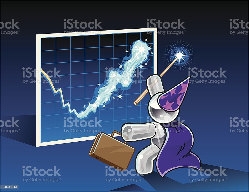 Magical Profit Increase royalty-free magical profit increase stock vector art & more images of achievement