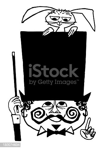 istock Magician With Top Hat and Rabbit 132074634
