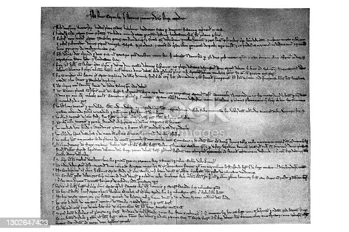 Illustration of a Magna Carta Libertatum (Medieval Latin for