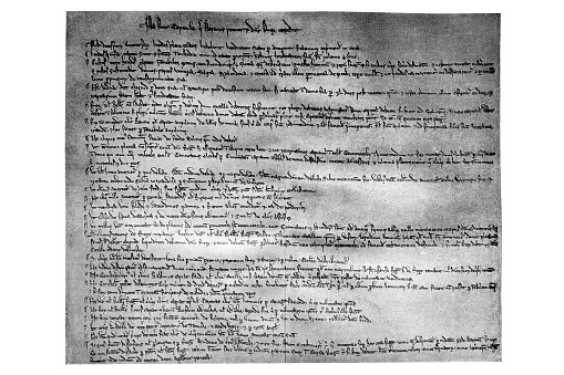 """Magna Carta Libertatum (Medieval Latin for """"Great Charter of Freedoms""""), commonly called Magna Carta (also Magna Charta; """"Great Charter""""), is a royal charter of rights agreed to by King John of England at Runnymede, near Windsor, on 15 June 1215"""