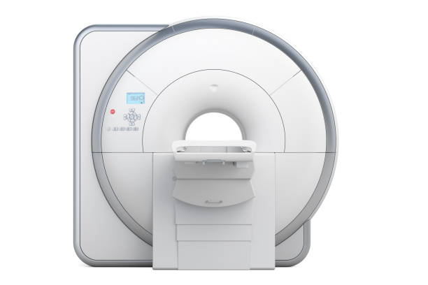 MRI Magnetic Resonance Imaging Scanner, 3D rendering isolated on white background vector art illustration