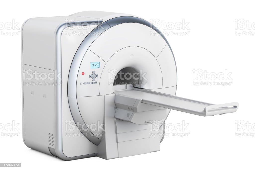 Magnetic Resonance Imaging Scanner MRI, 3D rendering isolated on white background vector art illustration
