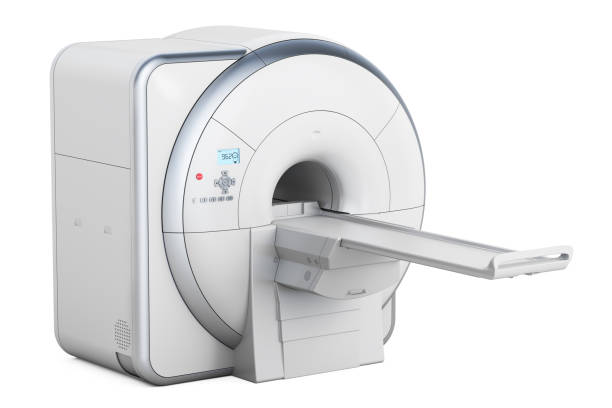 Magnetic Resonance Imaging Scanner MRI, 3D rendering isolated on white background vector art illustration