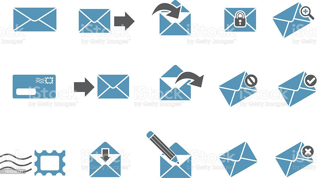 Mail Icon Set royalty-free stock vector art