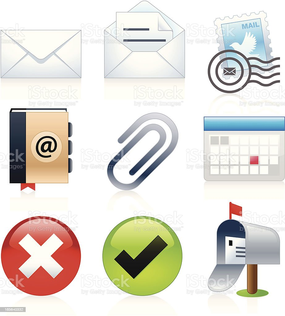 Mail Icons - Juicy Series royalty-free mail icons juicy series stock vector art & more images of address book