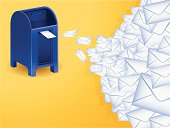 Mail background with copy space.