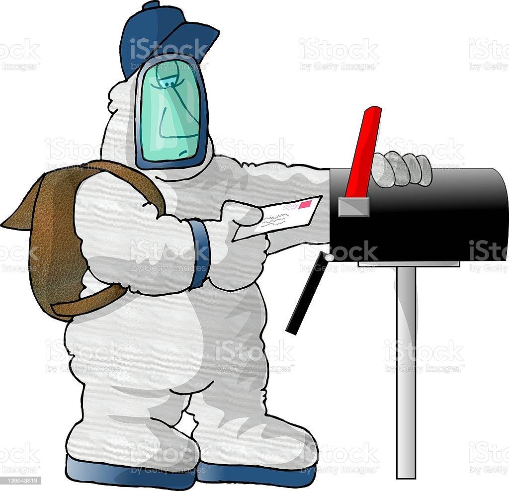 US Mailman, anthrax edition vector art illustration