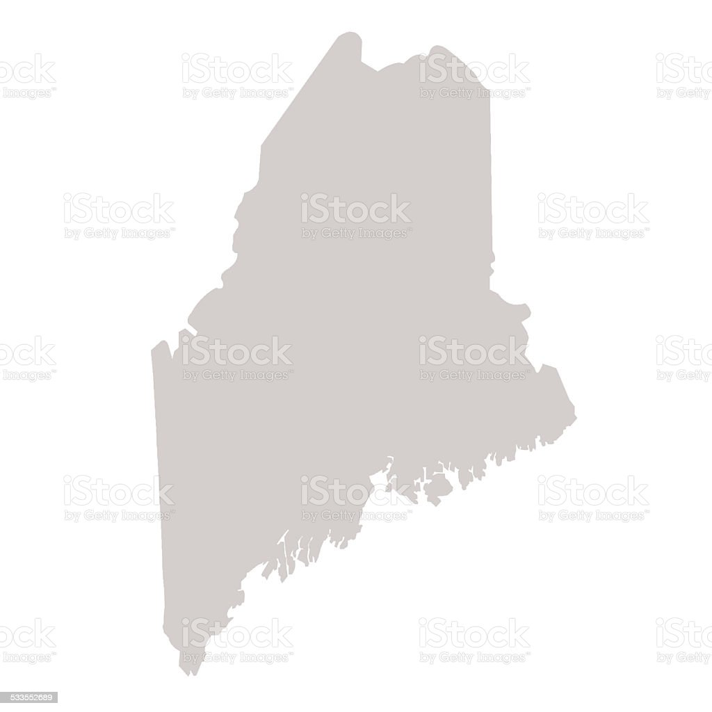 Maine State map vector art illustration