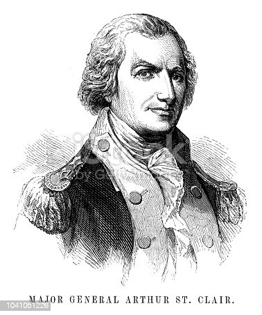Major General Arthur St. Clair - Scanned 1855 Engraving