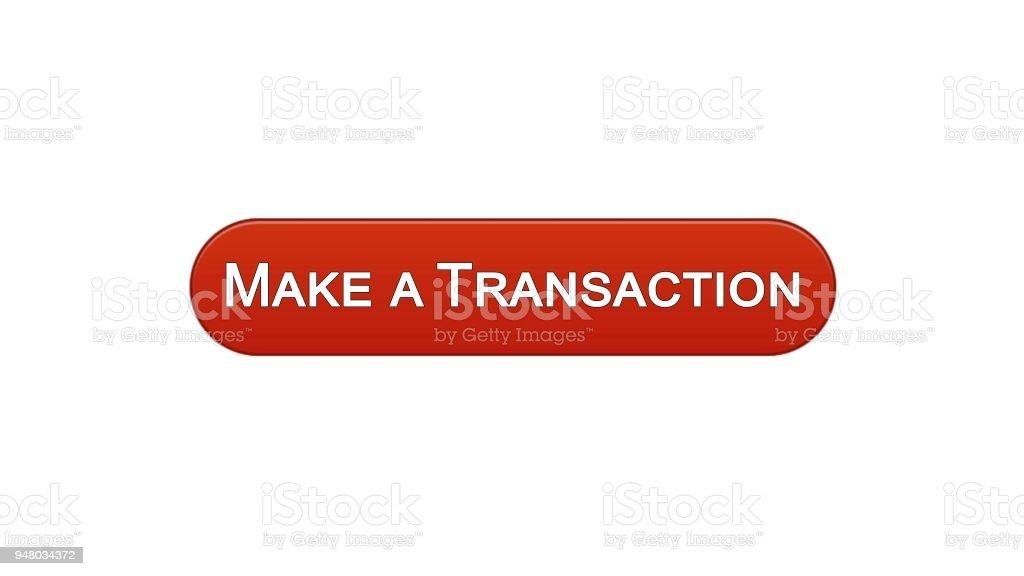 Ilustración de Hacer Una Transacción Web Interfaz Botón Vino Rojo De ...