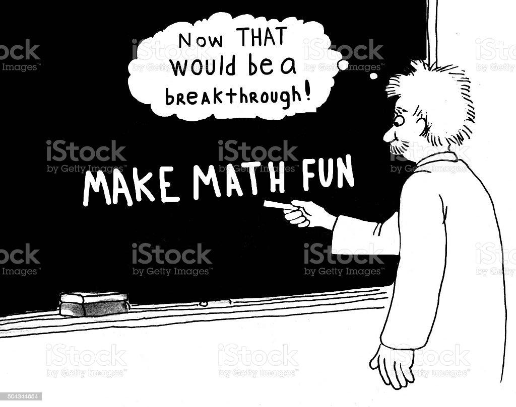 Make Math Fun vector art illustration