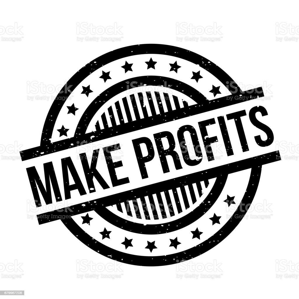 Make Profits rubber stamp vector art illustration