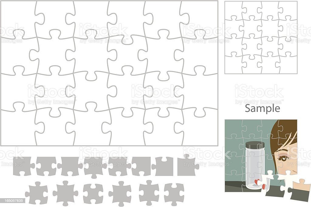 Make Your Own Puzzle royalty-free stock vector art