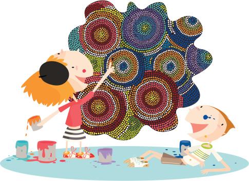 Making Art-vektorgrafik och fler bilder på Barn