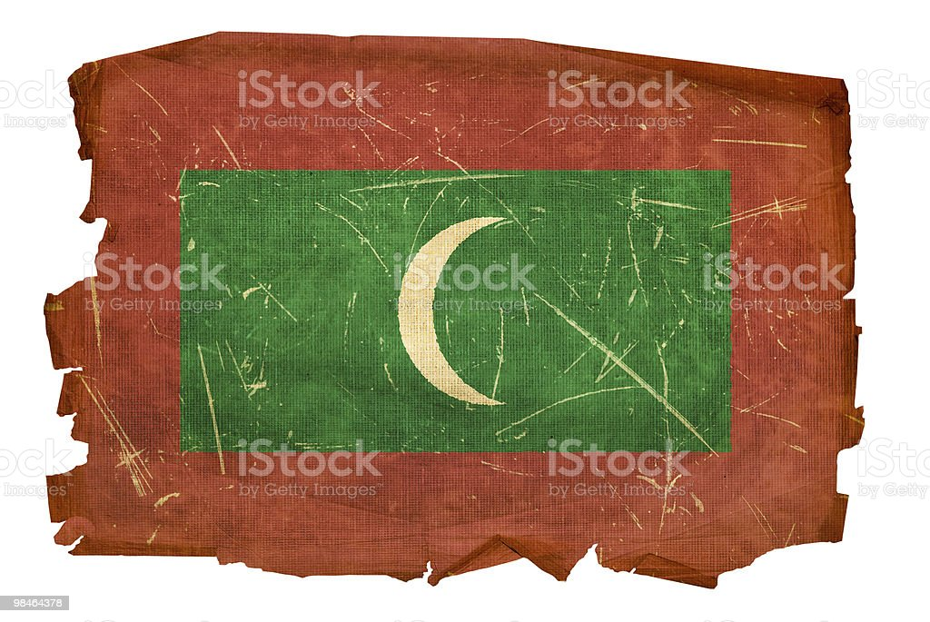Maldives Flag old, isolated on white background. royalty-free maldives flag old isolated on white background stock vector art & more images of aging process