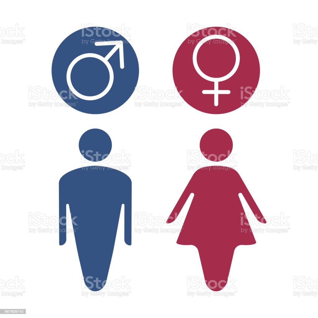 Male And Female Gender Symbol Stock Vector Art More Images Of