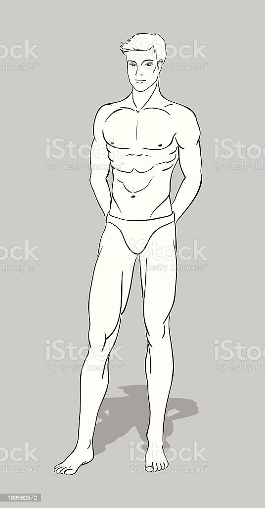 Male Fashion Figurine royalty-free male fashion figurine stock vector art & more images of adult