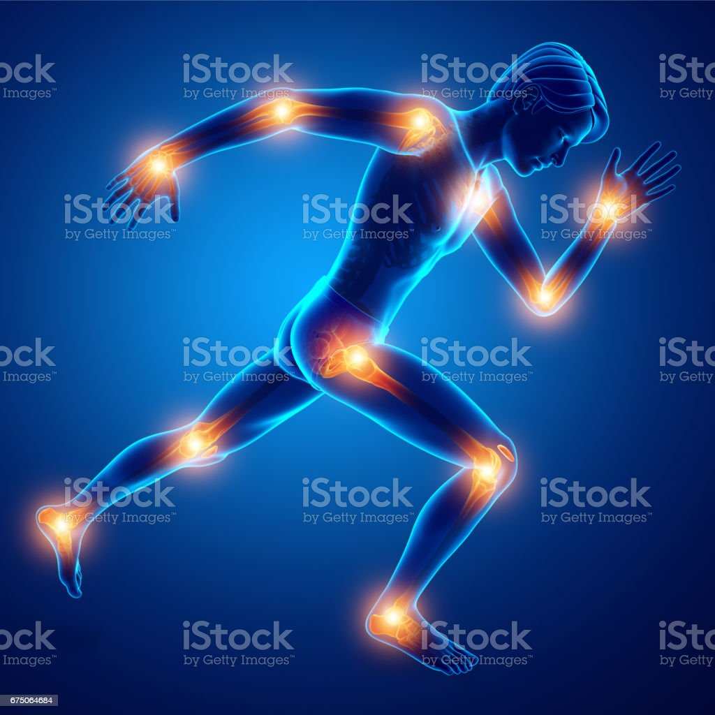 Male Joint Pain vector art illustration