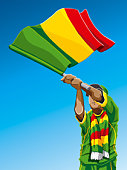 Mali Waving Flag Soccer Fan