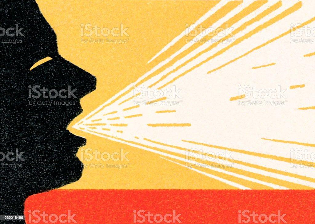 Man Coughing vector art illustration