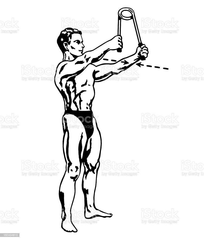 Man Exercising royalty-free stock vector art