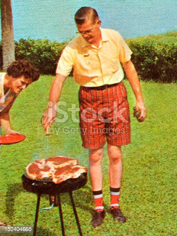 istock Man Grilling Steaks 152404665