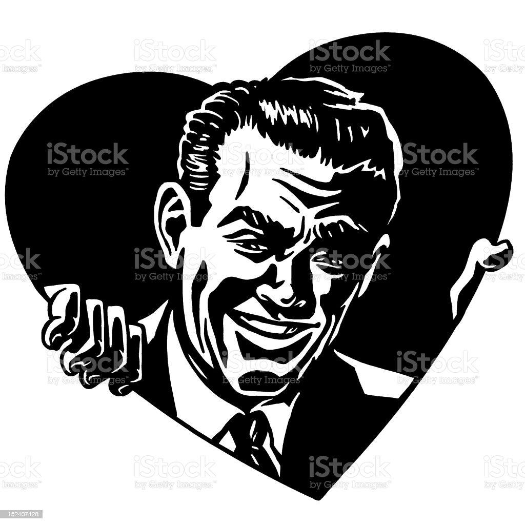 Man in Heart royalty-free stock vector art