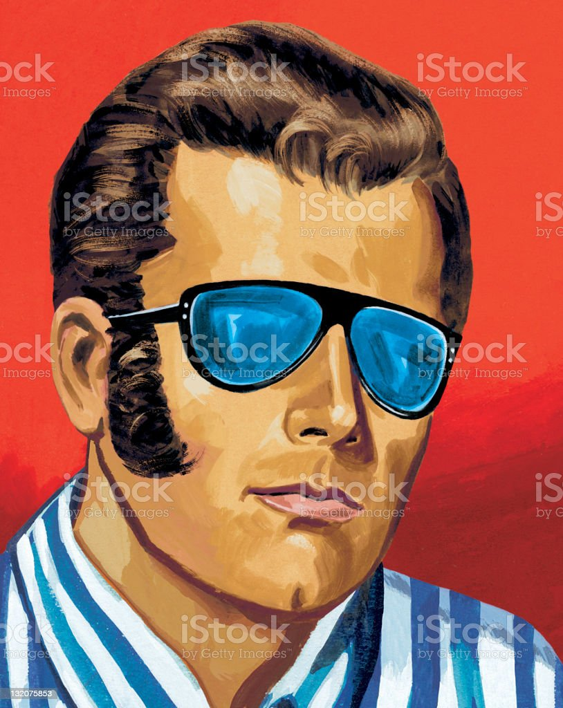 Man in Sunglasses royalty-free stock vector art
