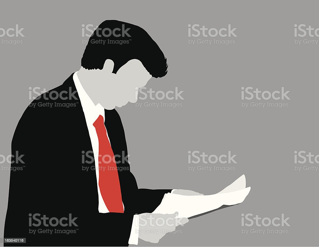 Man Looking at Papers royalty-free stock vector art