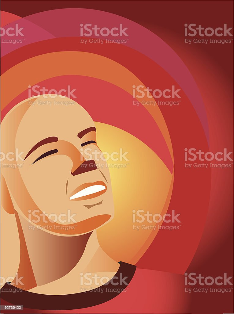 Man looking to the future royalty-free stock vector art