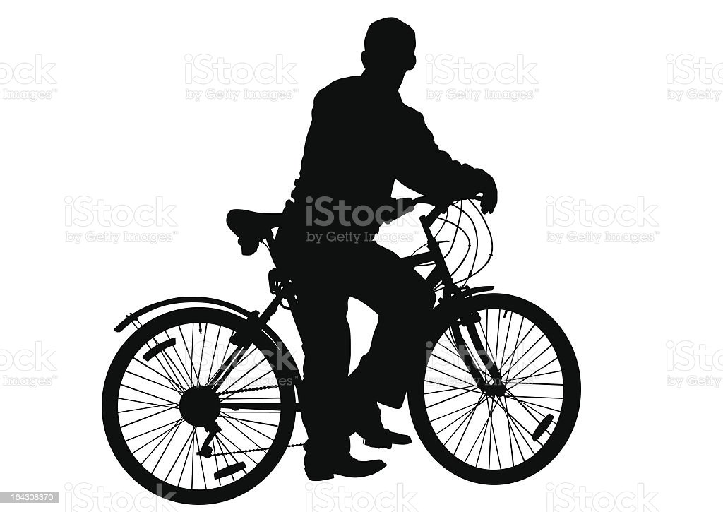 Man on a bicycle royalty-free stock vector art