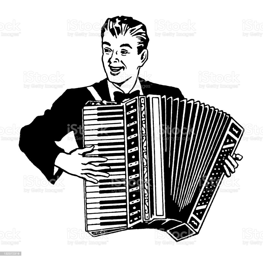 Man Playing Accordion royalty-free man playing accordion stock vector art & more images of accordion