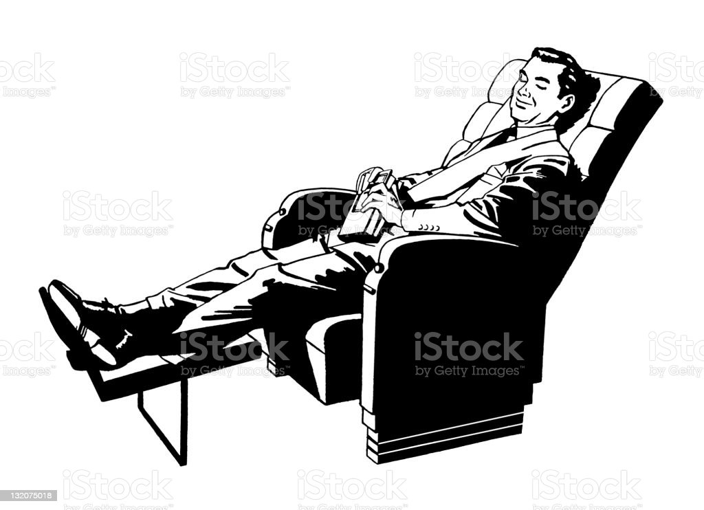Man Relaxing in Recliner royalty-free stock vector art  sc 1 st  iStock & Man Relaxing In Recliner stock vector art 132075018   iStock islam-shia.org