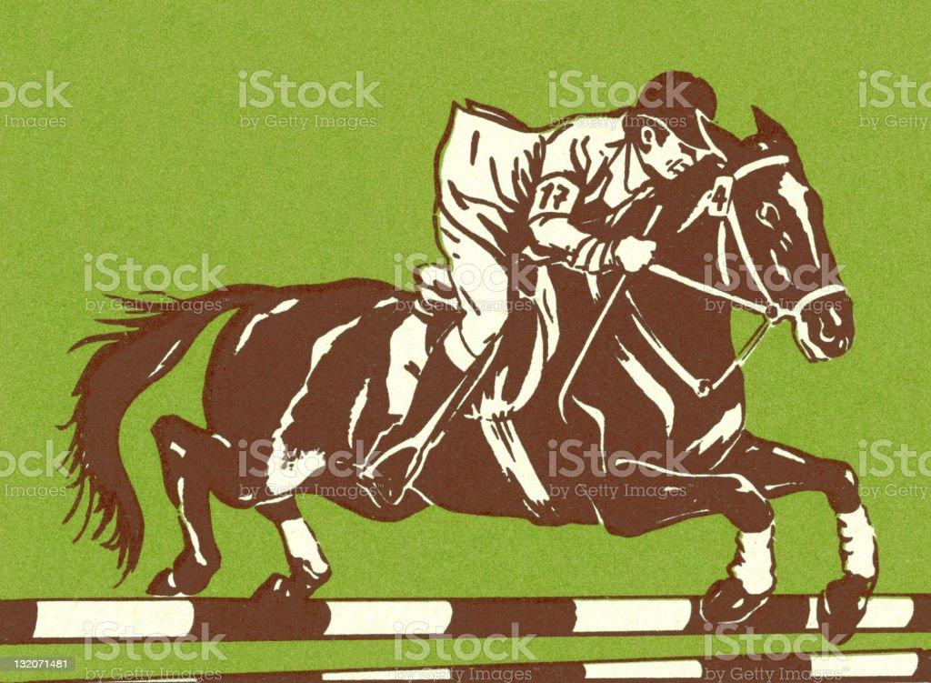 Man Riding Horse royalty-free stock vector art