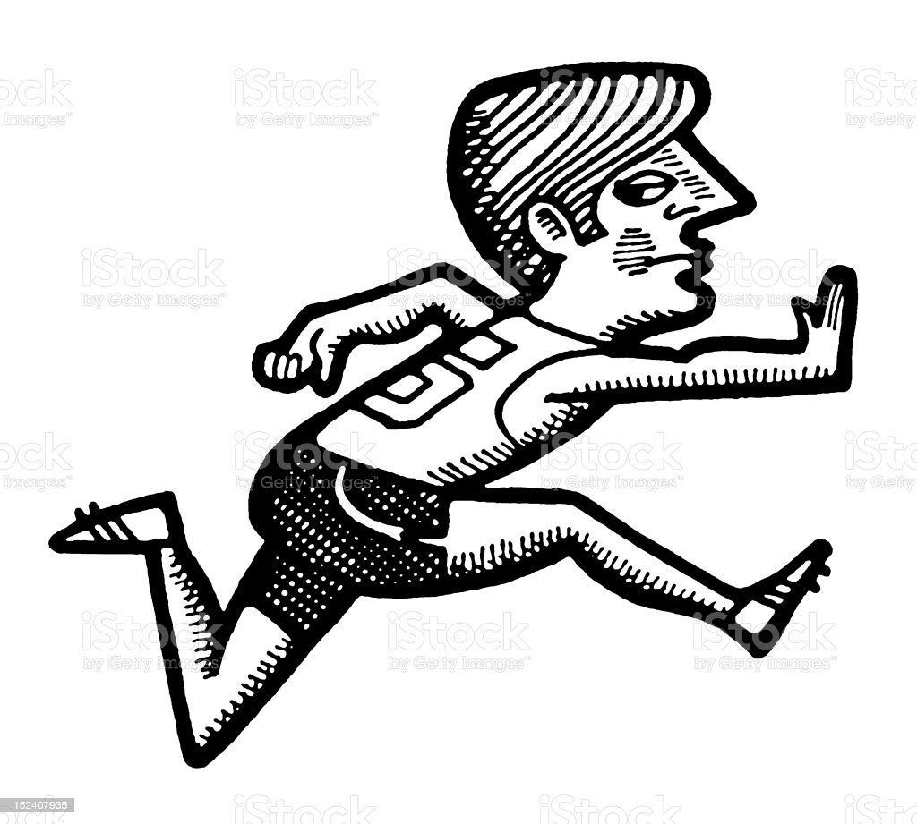 Man Running royalty-free man running stock vector art & more images of adult