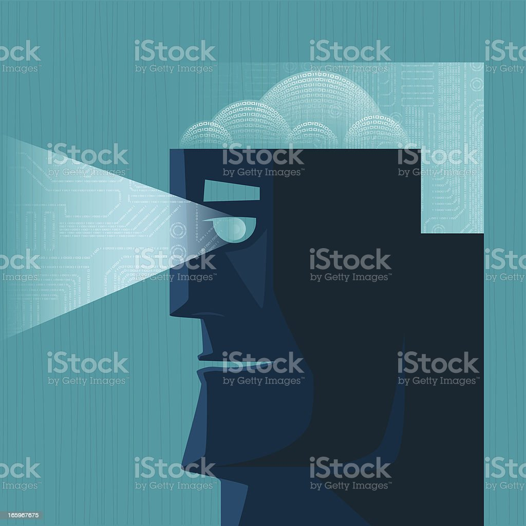 man searching silhouette royalty-free stock vector art