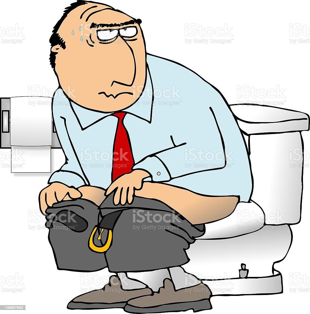 Uomo Seduto Su Un Wc Immagini Vettoriali Stock E Altre Immagini