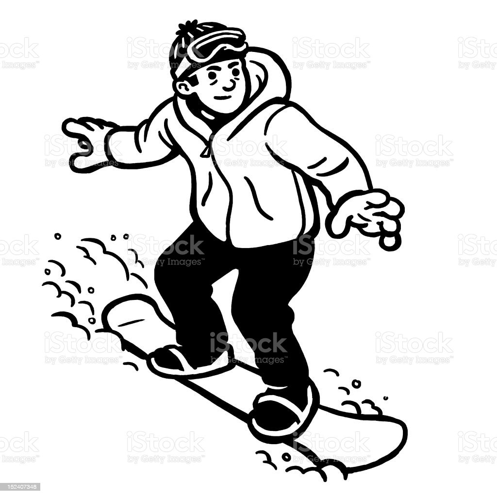 Man Snowboarding royalty-free stock vector art