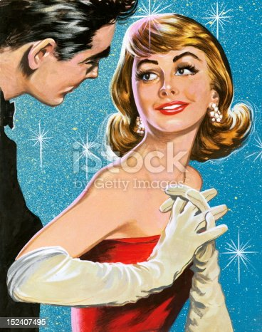 istock Man Speaking To Woman in Evening Gown 152407495