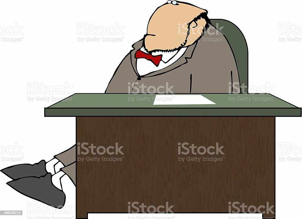 Man stretching at his desk royalty-free man stretching at his desk stock vector art & more images of adult