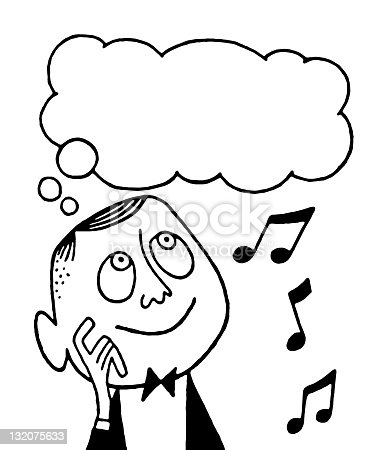 Man Thinking About Music