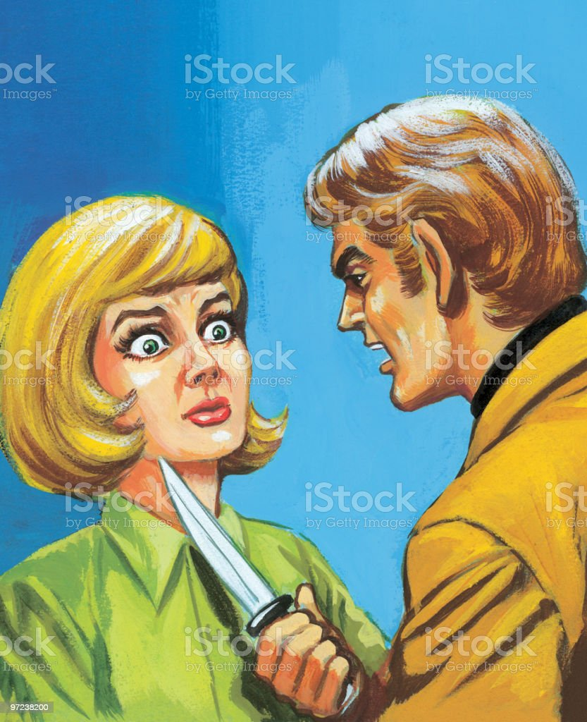 Man Threatening Woman With Knife royalty-free man threatening woman with knife stock vector art & more images of 30-39 years