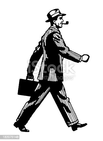 istock Man Walking Briskly 132075148