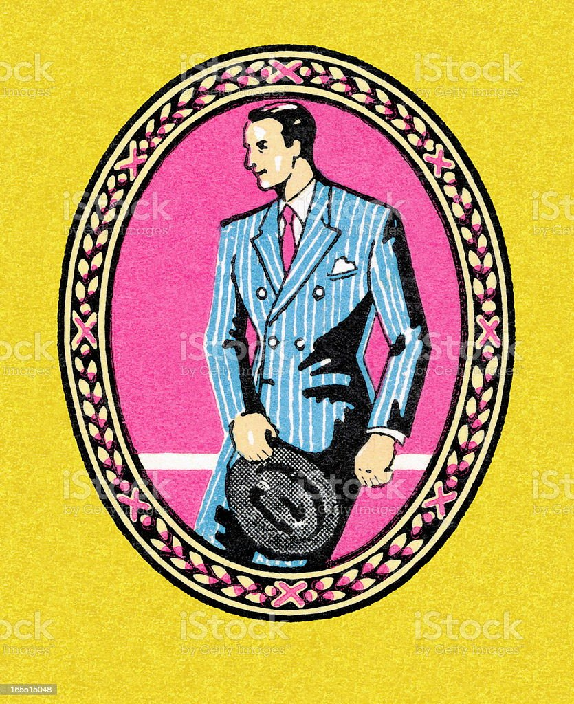 Man Wearing a Suit royalty-free stock vector art