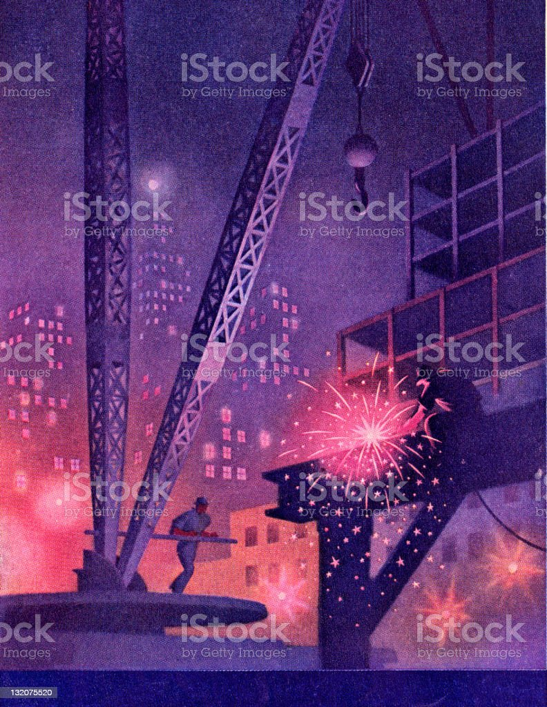 Man Welding at Worksite royalty-free man welding at worksite stock vector art & more images of adult