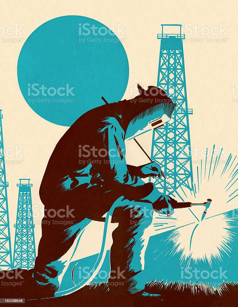 Man Welding royalty-free man welding stock vector art & more images of adult